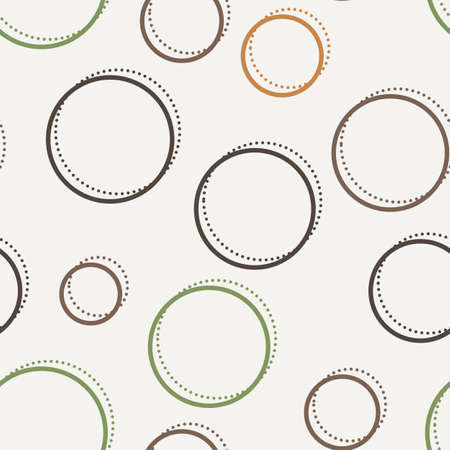 regular: Vector seamless dotted and lined pattern in contrasting colors Illustration