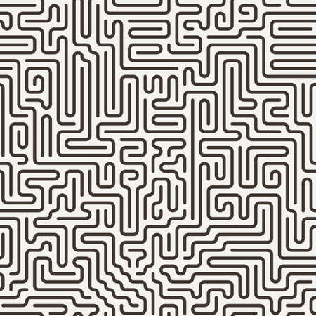 confusing: Vector seamless pattern in the form of a labyrinth or a computer motherboard