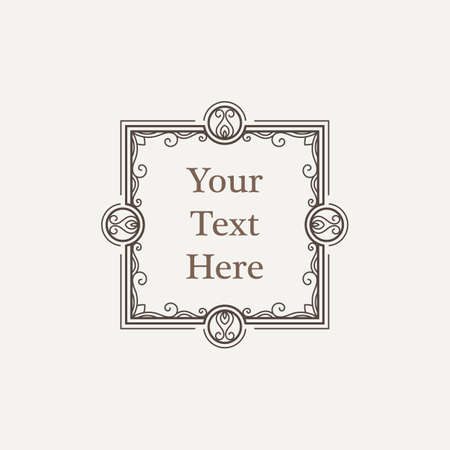 richly decorated: Vector ornate richly decorated vintage frame in Victorian style Illustration