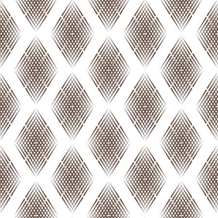 Vector seamless pattern of lines in the style of engraving Ilustração