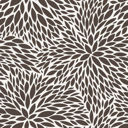 Vector seamless pattern of leaves in contrasting colors