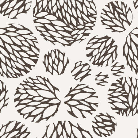 flores vintage: Vector seamless pattern of leaves in contrasting colors