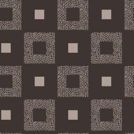 twill: Vector seamless pattern of randomly intertwined ribbons