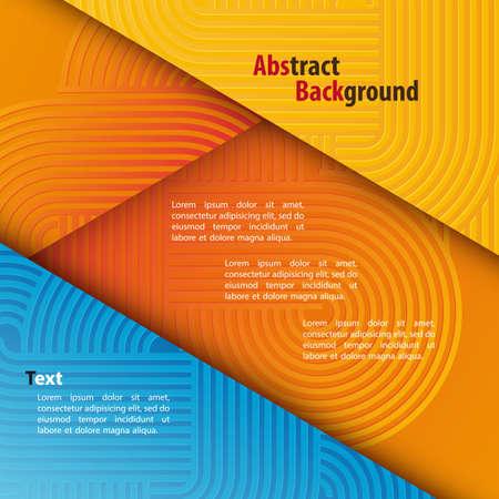 Abstracte achtergrond met ronde patroon en de tekst