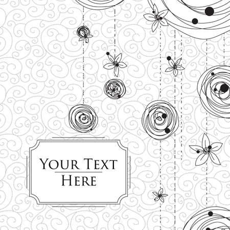 scribbles: Card with intricate scribbles on the background Illustration