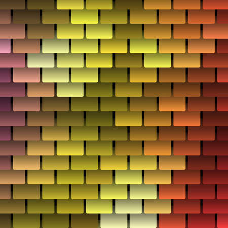 terracotta: Colored Vector Shingles Background Illustration