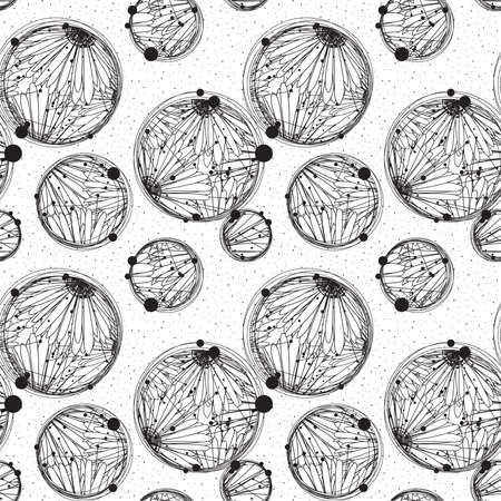 knick: Background from bubbles with intricate floral patterns