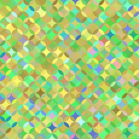 crannied: Bright multicolored green pattern of circle segments Stock Photo