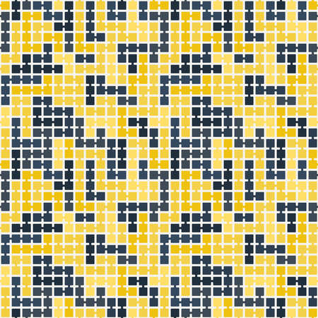 randomly: Seamless pattern of randomly connected squares