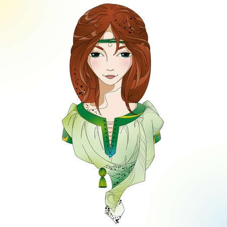scandinavian girl: Mysterious witch. Scandinavian girl.