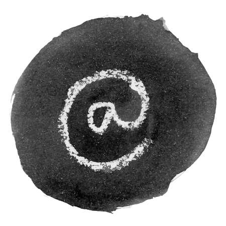 ink stain: Ink Stain with the Symbol of At