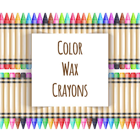 wax: Colorful background with fence from wax pencils
