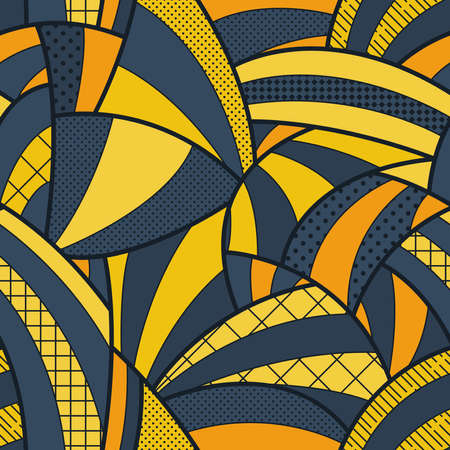 curved lines: Seamless patterned background of curved lines Stock Photo