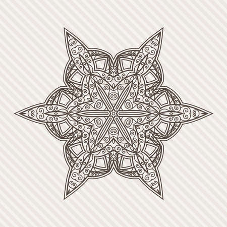 contrasting: Filigree Flower Henna Pattern in Contrasting Colors
