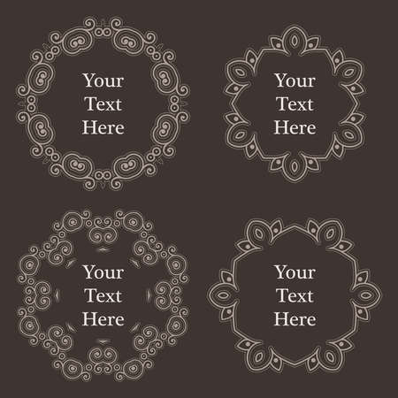richly decorated: Ornate richly decorated vintage frame in Victorian style