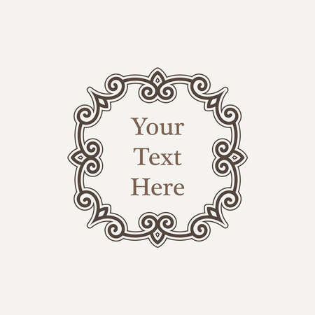 richly: Ornate richly decorated vintage frame in Victorian style
