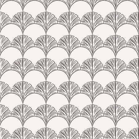 flores vintage: Vector seamless hand-drawn floral pattern in contrasting colors Illustration