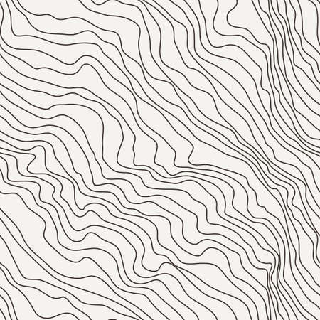 Seamless vector pattern of curved lines
