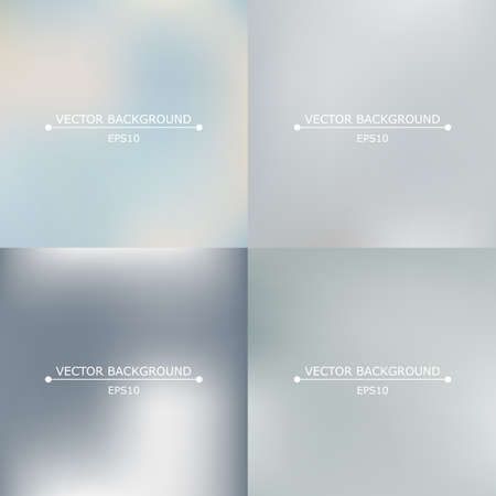faded: Set of four bright multicolored blurry backgrounds