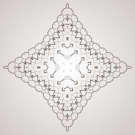 workpiece: Vector circular pattern in the form of intricate flower. Mandala. Lacy napkin.