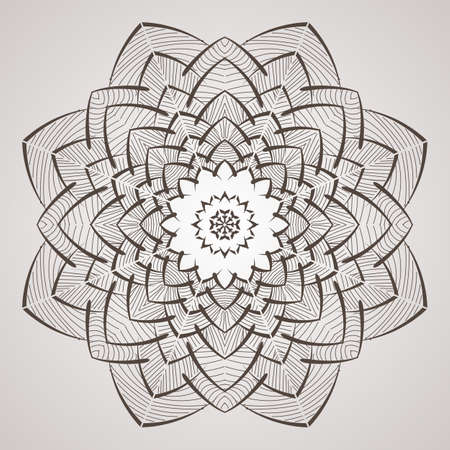 repujado: Vector circular pattern in the form of intricate flower. Mandala. Lacy napkin.