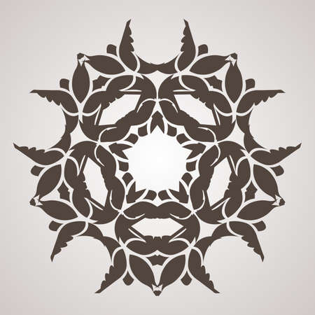 squiggles: Vector circular pattern in the form of intricate flower. Mandala. Lacy napkin.