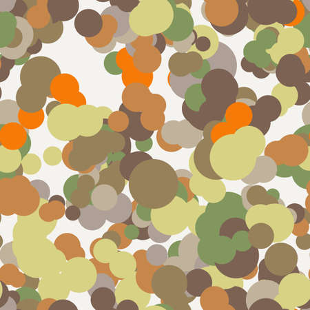 contrasting: Vector seamless pattern of colored circles in contrasting colors
