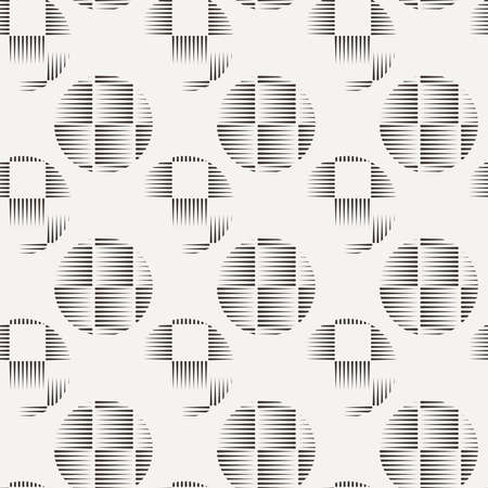 Seamless pattern of lines in the style of engraving Stock Photo