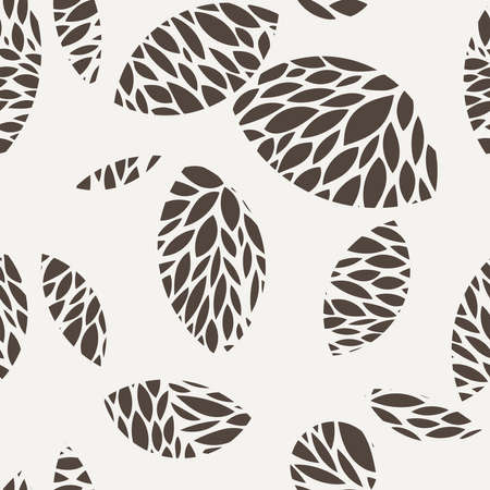 contrasting: Seamless pattern of leaves in contrasting colors
