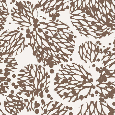 flores vintage: Seamless pattern of leaves in contrasting colors