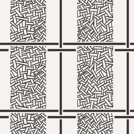 intertwined: Seamless pattern of randomly intertwined ribbons Stock Photo