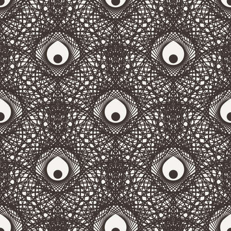 Seamless floral pattern in contrasting colors