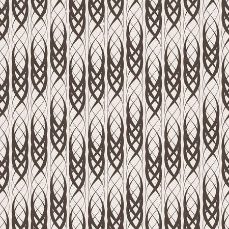 thickness: Seamless abstract pattern of intertwined lines of different thickness