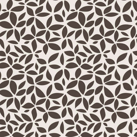 Seamless abstract floral pattern of leaves and petals Stock Photo