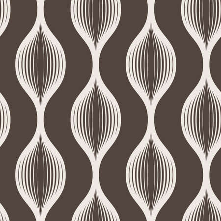 transition: Seamless abstract geometric pattern of wavy lines of different thickness with a smooth transition