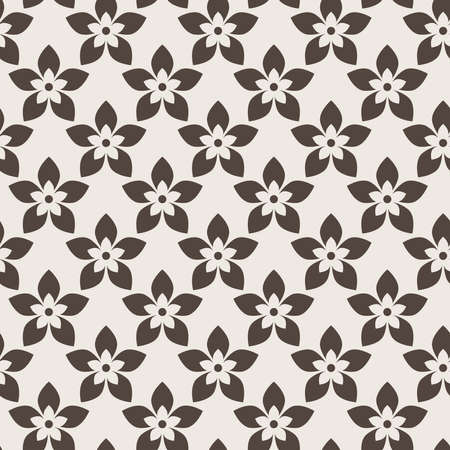 five petals: Seamless abstract floral pattern of flowers with five petals