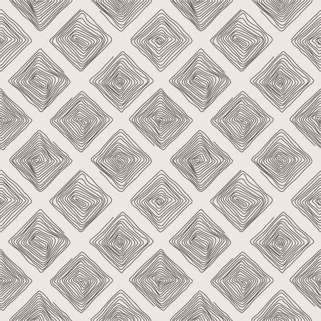 scrolling: Seamless pattern of the curve scrolling lines drawn in the form of geometric shapes Stock Photo
