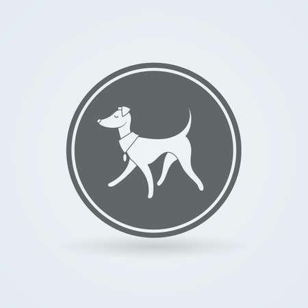 leggy: Vector Symbol of Pretty Walking Italian Greyhound. Simple Illustration.