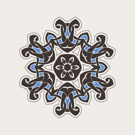 fabric patterns: Vector mandala. Gothic lace tattoo. Celtic weave with sharp corners. The circular pattern. Illustration