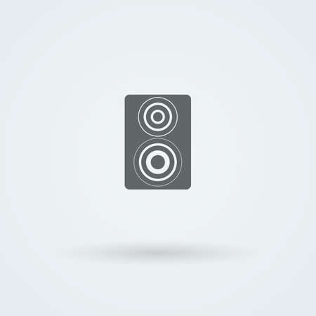 acoustic systems: Vector icon of minimalist music speakers. Logo. Pictogram. Button.