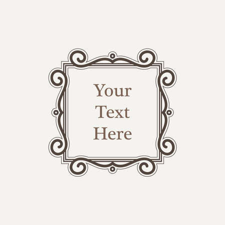 swash: Ornate richly decorated vintage frame in Victorian style