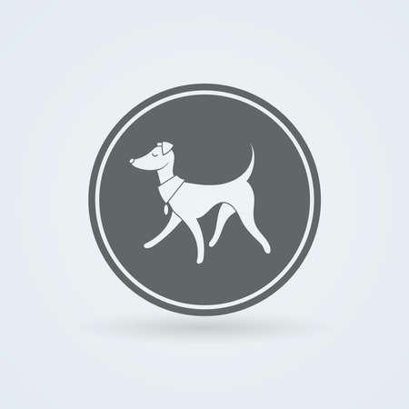 leggy: Symbol of Pretty Walking Italian Greyhound. Simple Illustration.