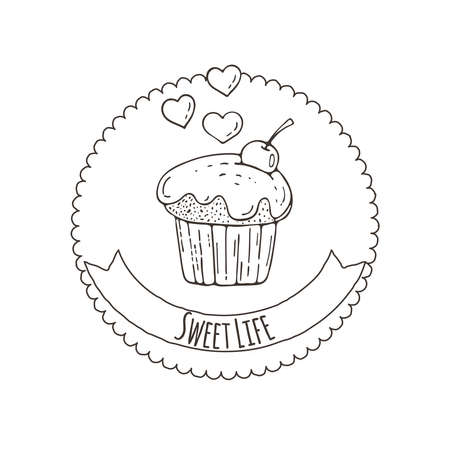 muffins: Muffins Background. Cakes, Sweets.