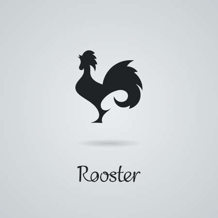 tail: Rooster, cock, chicken vector illustration.