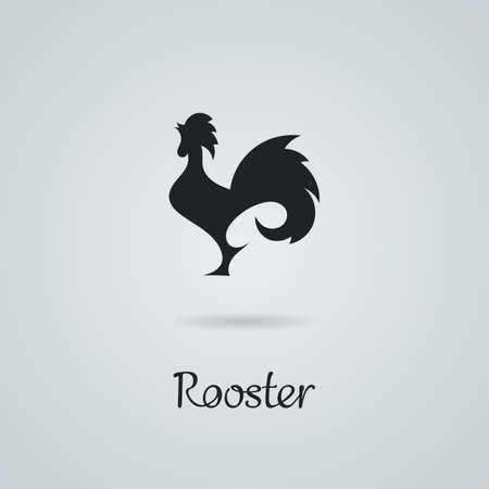 cockscomb: Rooster, cock, chicken vector illustration.
