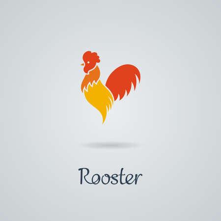 Gallo, ilustración vectorial de pollo. Diseño de logo. Emblema, símbolo. Logos