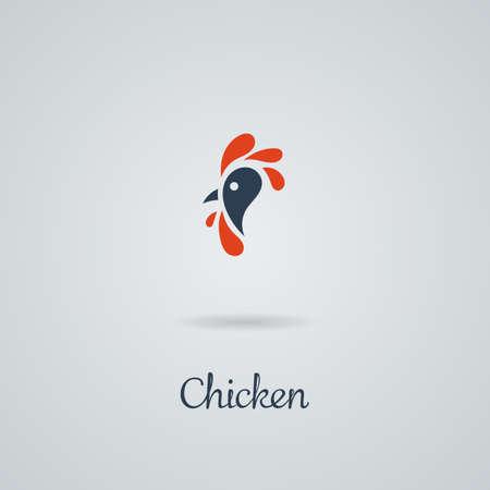 オンドリ, コック, 鶏のベクトル図です。ロゴデザイン。紋章、記号。