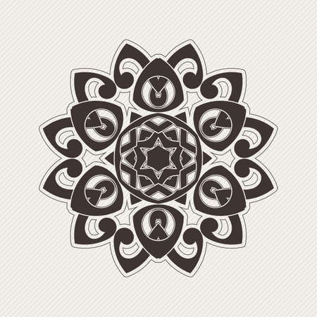 paganism: Vector mandala. Gothic lace tattoo. Celtic weave with sharp corners. The circular pattern. Illustration