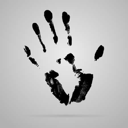 smeared: Vector black smeared hand imprint of mascara