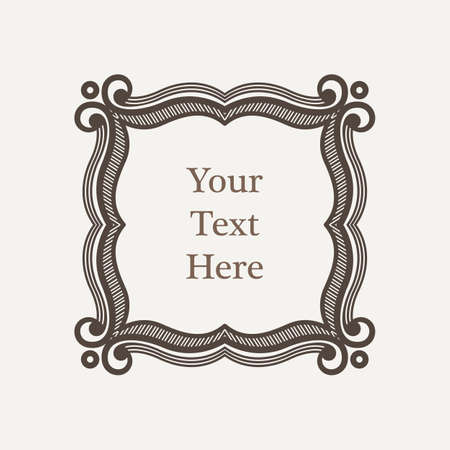 richly: Vector ornate richly decorated vintage frame in Victorian style Illustration